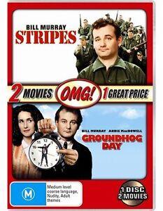 Groundhog-Day-Stripes-NEW-DVD-Region-4-Australia-Bill-Murray-John-Candy