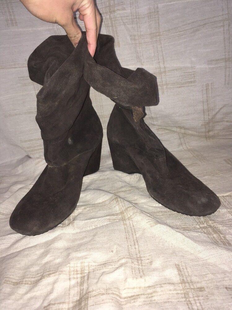 Gentle Soul en Daim marron bottes, chaussures femmes, Taille 9.5 M