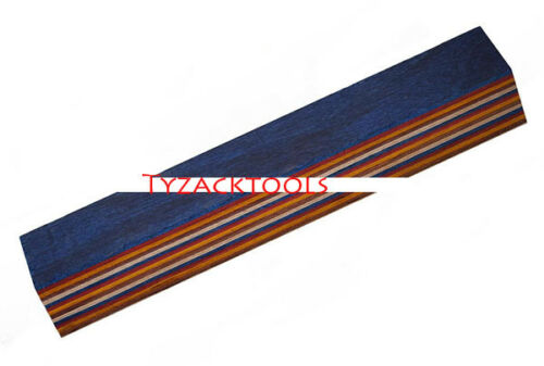 Tyzack Wood Wooden Colourful Striped Pen Blanks TY-CW031-BL