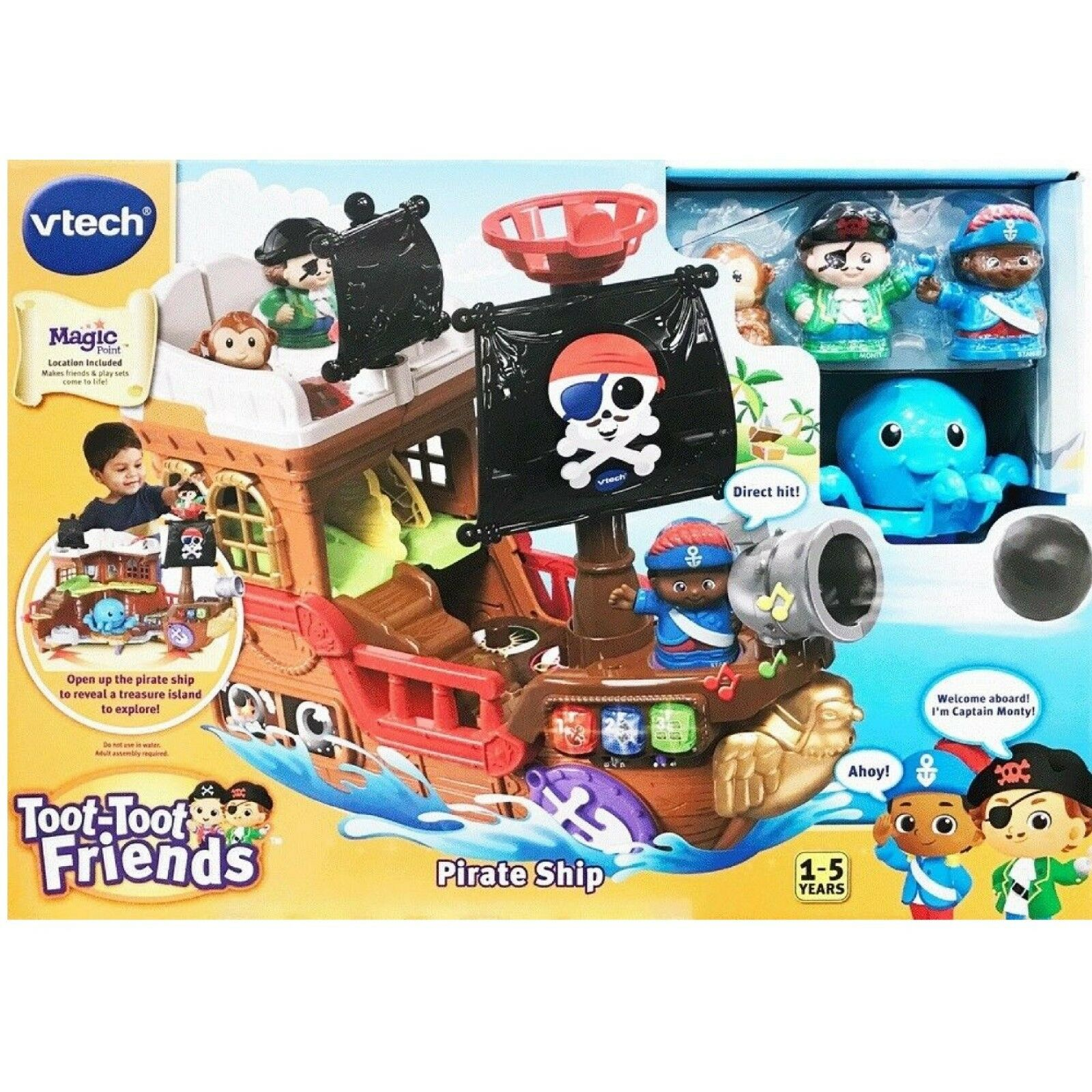 Vtech Toot-Toot Friends Kingdom Pirate Ship Ages 1-5 Brand New