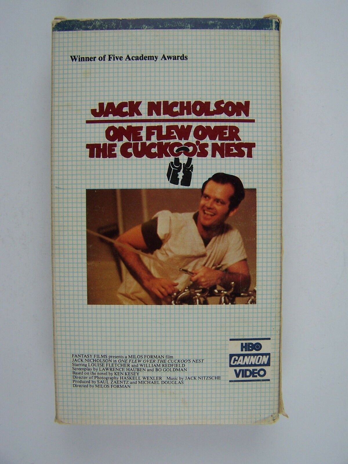 One Flew Over The Cuckoo's Nest VHS Video HBO Cannon Ed