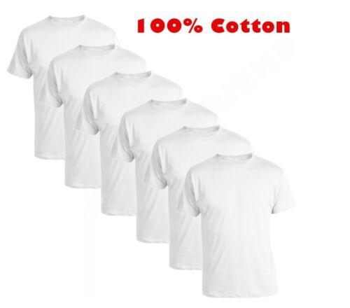 Multi Pack 100/% coton homme Plain Tshirts col ras du cou Extra Doux Coton T Shirt