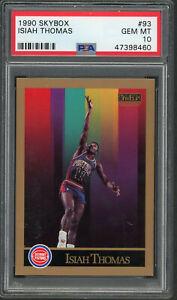 Isiah-Thomas-Detroit-Pistons-1990-Skybox-Basketball-Card-93-Graded-PSA-10-MINT