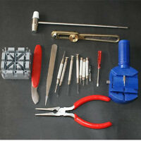 16pcs Deluxe Watch Opener Tool Kit Set Repair Pin Strap Remover Case Holder