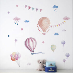 Colorful-Hot-Air-Balloons-Wall-Stickers-Girls-Kids-Child-Room-Art-Decals