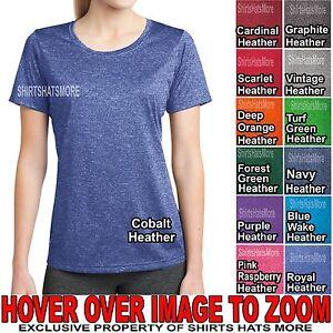 Ladies-DriFit-Heathered-T-Shirt-Moisture-Wick-Tee-Womens-XS-XL-2X-3X-4X-NEW
