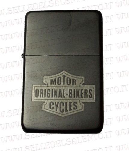 Accendino come Zippo a benzina ricaricabile incisione motorcyles original bikers