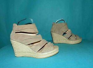 sandales espadrille compensés KANNA en daim bige pointure 40 fr