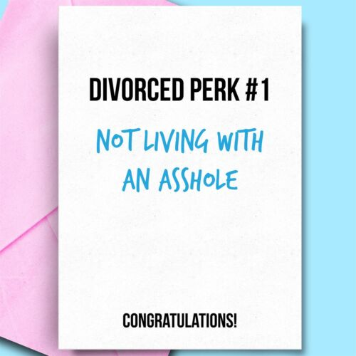 Divorce Cards For Him Bestfriend BFF Brother Dad Funny Divorce Cards funny cards