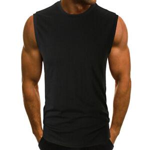 Men-T-Shirt-Bodybuilding-Tank-Top-Men-Fitness-Muscle-Sleeveless-Sport-Causal-IO