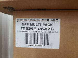 2020 Panini Prizm Football Factory Sealed Cello 20 Box Case Sealed Herbert Tua