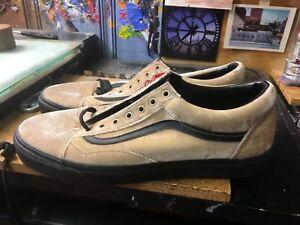 Vans Old Skool (Velvet) Tan Black Size US 10 Men s VN0A38G1NQA  fc06f0ad9