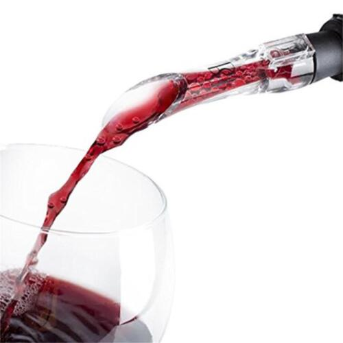 Red Wine Acrylic Aerator Pour Spout Bottle Stopper Decanter Pourer Aerating MA