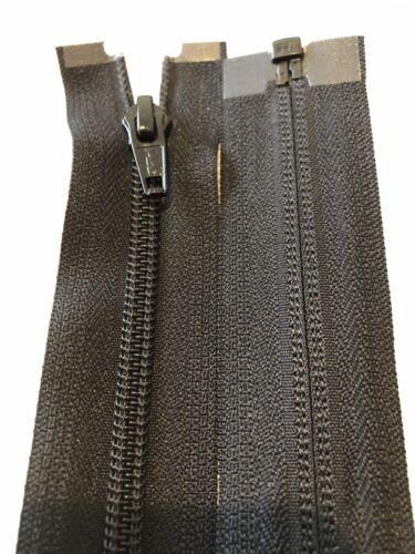 Bobina De Nylon YKK Cremallera negra abierta por su extremo de 36 Pulgadas//91 cm de largo NO-5