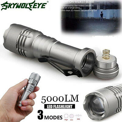 CREE Q5 AA//14500 3 Modes  Zoomable Portable LED Flashlight Torch Super Bright