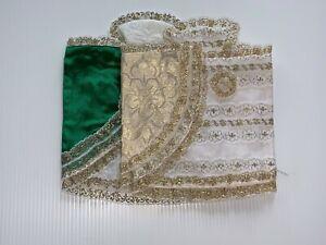 Vintage-Infant-of-Prague-10-034-Dress-with-Lace-Brocade-Mixed-Colors-2-Pcs-Lot