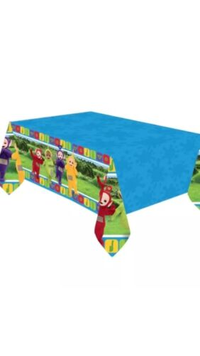 TELETUBBIES PLASTIC TABLECLOTH  TABLE COVER BIRTHDAY PARTY 1.8 By 1.2M