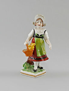 9997035-Porcellana-Figura-Handlerin-Ragazza-con-Cestino-ernst-bohne-H14cm
