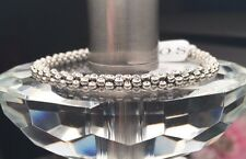 LAGOS Caviar Beaded Sterling Silver Bracelet 925 Rope Chain  NEW