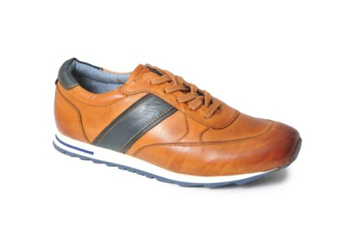 Catesby Mens Casual Leather Shoes Trainers 2 Colours 7 to 12
