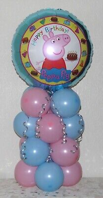 NO HELIUM NEEDED TABLE DECORATION PARTY FOIL BALLOON DISPLAY PEPPA PIG