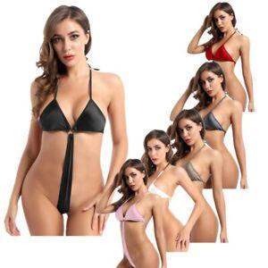 Damen-Lingerie-Bikini-Rueckenfreis-Babydoll-Bodysuit-Bademode-Nachtwaesche-Sexy