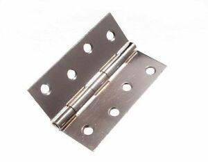 Mengenangebot-6-Scharniere-Tuer-Tor-CP-Verchromt-Stahl-100Mm-10-2cm-mit-Schrauben