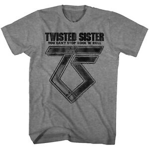 TWISTED-SISTER-cd-lgo-CAN-039-T-STOP-ROCK-N-ROLL-Official-GREY-SHIRT-XXL-2X-new
