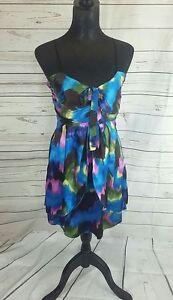 fe9cd1c521a Image is loading MISO-Womens-Blue-Pink-Green-Multi-Babydoll-dress-