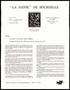 France Annonce Feuille 1968 Relief La Danse Bourdelle Ministre Sheet Rare Zb90-att 1968 Relief La Danse Bourdelle Minister Sheet Rare Zb90afficher Le Titre D'origine