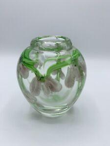 FLORAL LAMPWORK STUDIO ART GLASS Vase Paperweight