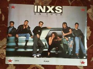 INXS Michael Hutchence Repro Tour Poster