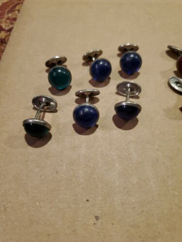 JOB LOT OF 12 BOXED SETS VINTAGE CUFFLINKS /& TIE PIN UNUSED OLD SHOP STOCK WALES