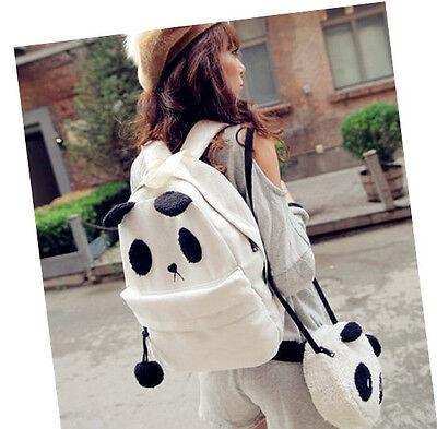 Korean Fashion Women Girl Panda Mother & Baby Shoulder Backpack Handbags Bag Set