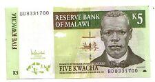 Malawi 5  kwacha  2005     FDS UNC     pick 36 c       lotto 3804