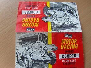 Airfix Motor Racing Papier En-tête Pour Cooper Essieu Arrière Original Scalextric-afficher Le Titre D'origine Par Processus Scientifique