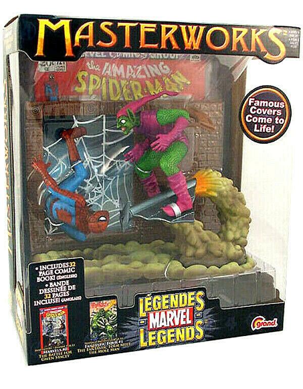 Marvel Masterworks SPIDERMAN vs Grün GOBLIN  2 figuras PVC 16cm