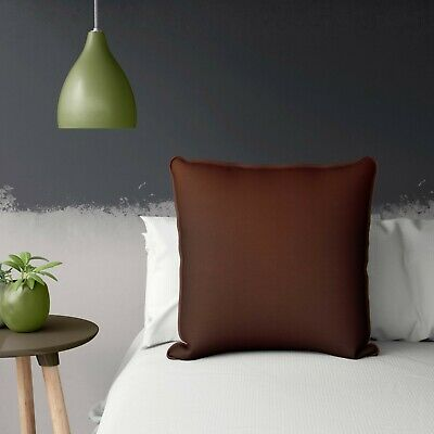 Decorative Brown Cushion Cover With Piping Throw Pillow Case 24x24