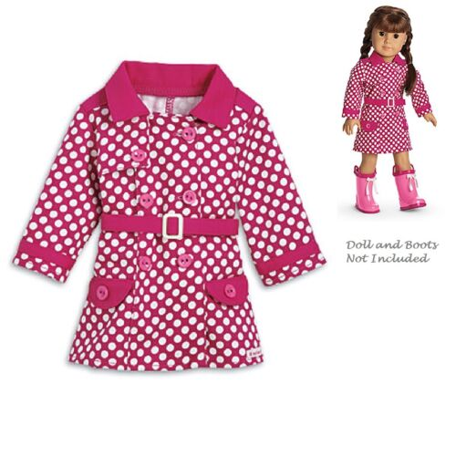 """American Girl MY AG RAINY DAY COAT for 18/"""" Dolls Jacket Rain Outfit Retired NEW"""