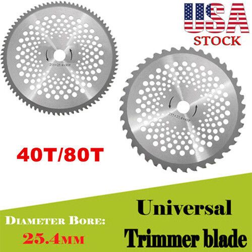 10/'/' Inch 40T//80T Teeth Carbide Tip Blade For Brush Cutter Trimmer US
