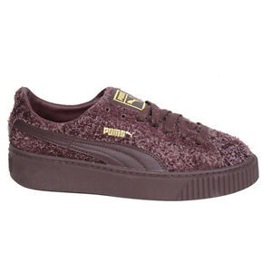 e8e35b5e0fe Image is loading Puma-Suede-Platform-Elemental-Lace-Up-Purple-Womens-