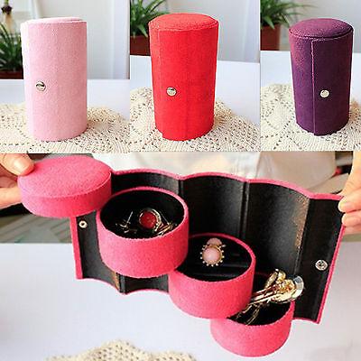Velvet Jewelry Ring Bracelet Container Storage Earrings Gift Organizer Box Case