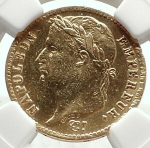 1814-FRANCE-Napoleon-Bonaparte-20-Francs-Antique-French-Gold-Coin-NGC-i70820