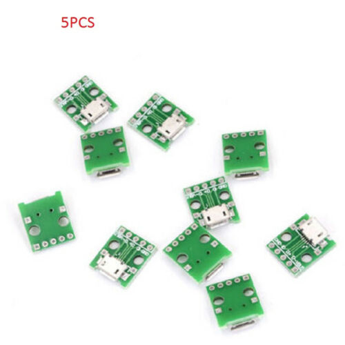 5PCS mini USB to DIP Adapter Converter for 2.54mm PCB Board DIY Power Supui HICA