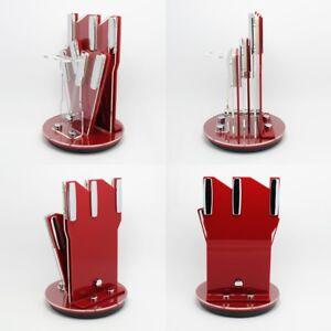 360-Rotating-Acrylic-Storage-Holder-Blocks-Rack-Strip-Kitchen-Tool-UKWJ