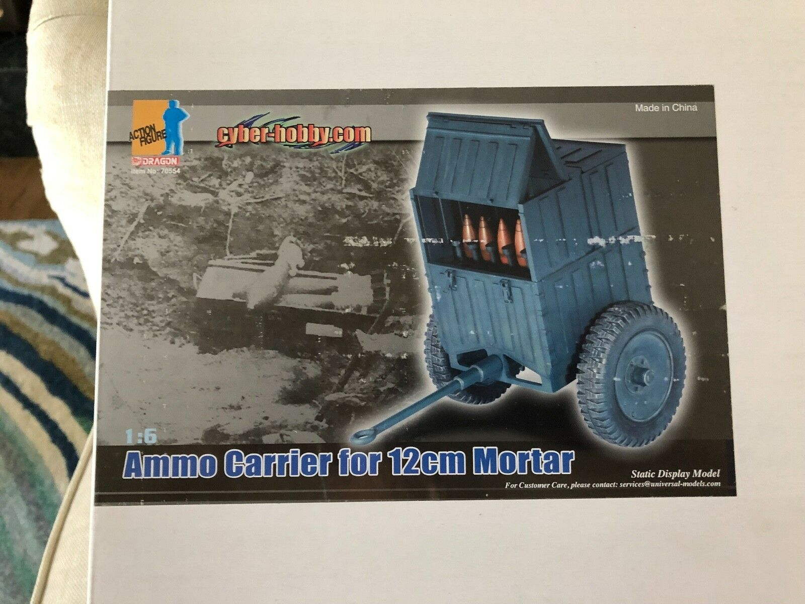 Cyber Hobby WWII 1 6 Ammo Carrier Carrier Carrier for 12cm Mortar 2a841c