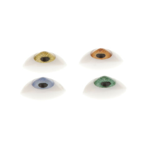4 Pair Oval Flat Realistic Plastic Eyes for BJD SD Dolls Mask Making 7mm