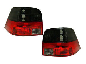 VW-GOLF-MK4-1998-2004-CRYSTAL-RED-amp-SMOKED-REAR-TAIL-LIGHTS-LAMPS-M3-STYLE-PAIR