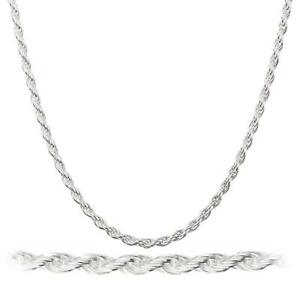 925-Sterling-Silver-Necklace-Diamond-Cut-Rope-Chain-2mm-925-Sterling-Silver-Rope