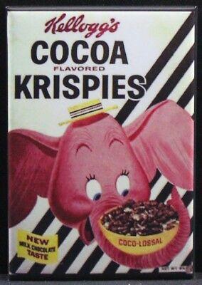 "Strawberry Pops Vintage Cereal Box 2/"" x 3/"" MAGNET Refrigerator Locker"